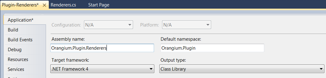 Change assembly name and default namespace